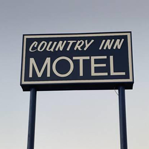 Country Inn Motel Sign